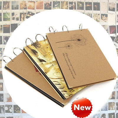 10'' Photo Image Album Book Hardcover Black Pages Anniversary Scrapbook Deluxe