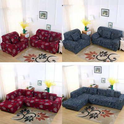 Fit 1/2/3/4 Seater Fashion Stretch Elastic Fabric Couch Sofa Cover Slipcover US