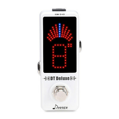 Donner DT Deluxe Guitar Tuner Pedal ±0.1 Cent for Guitar & Bass