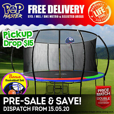 PoP Master 4.5FT Kids Trampoline with Safety Net Pad Indoor Outdoor