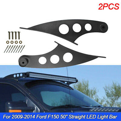 50 Straight Led Light Bar Roof Mounting Brackets For 09 14