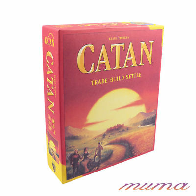 2018 New Catan Board Game Settlers Of 3-4 Players Sealed Family Party Game Toy