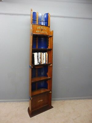 Original Edwardian Scull Boat Section Bookcase....rosie