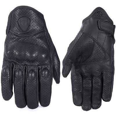 ROAOPPP Leather Motocross Glove Moto Gloves Black Men Motorcycle Protective New