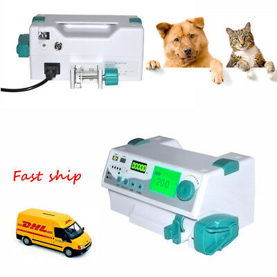 Medical LCD HD Syringe Pump Injector Pump Medical Machine VET For Animal KVO CE