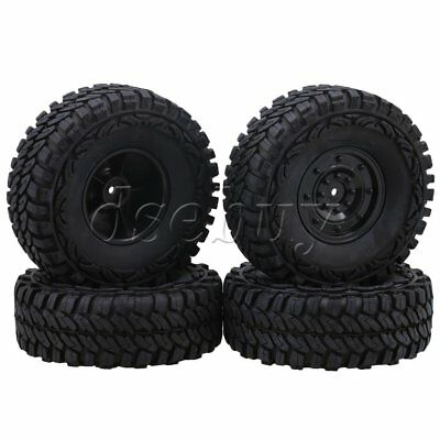 4pcs 1.9inch Disc Wheel Rim + 115mm Rubber Tyre for 1:10 Rock Crawler