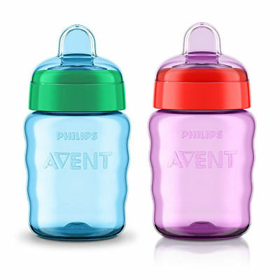 Philips AVENT Easy Sip Cup 9oz / 260ml Choice of Colours Blue or Pink 9 months+