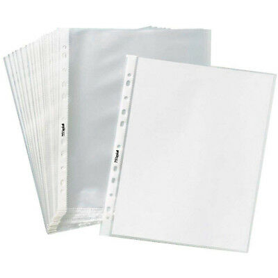 200-1000 Clear Sheet Page Protectors Plastic Office Document Sleeves Non Glare
