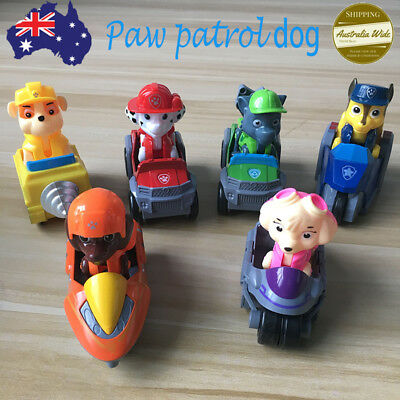 Paw Patrol Dog Character Figure Car Toys Puppy Rescue Racer Kids Child Toy Gifts