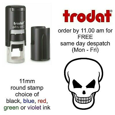 Skull Rubber stamp Loyalty Card Self Inking shop cafe music gothic image reward