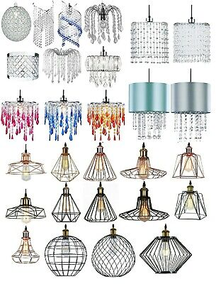 Modern Ceiling Pendant Light Shades Vintage Lamp Chandelier Acrylic Crystal Drop