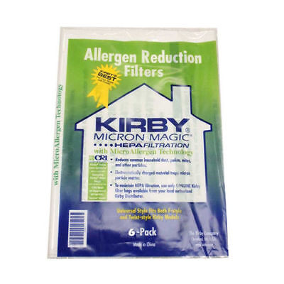 6 pack Genuine Universal Kirby Hepa White Cloth Allergen Reduction Bags 204811