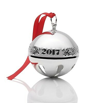2017 Wallace 47th Anniversary Silver Plate Sleigh Bell Xmas Ornament Decoration