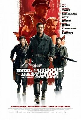 INGLOURIOUS BASTERDS MOVIE POSTER 2 Sided ORIGINAL FINAL 27x40 BRAD PITT