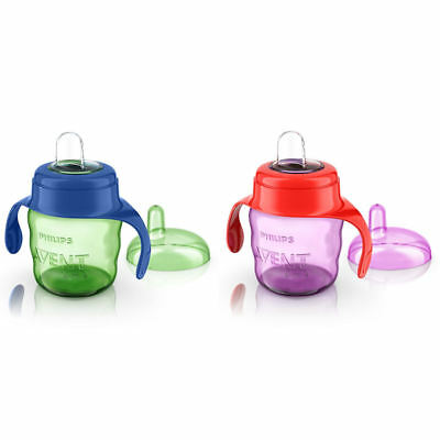 Philips AVENT Easy Sip Cup With Handles Choice of Colour Green or Pink 6 months+