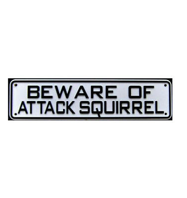 Beware of Attack Squirrel Sign