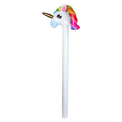 110cm Inflatable Unicorn Stick - Blow Up Summer Pool Float Fancy Dress Party Toy