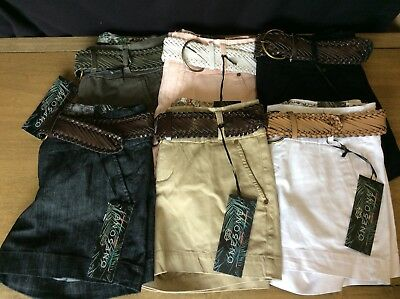 ONE 5 ONE 151 Womens Belted Shorts - Choose from 5 colors  -- NWT