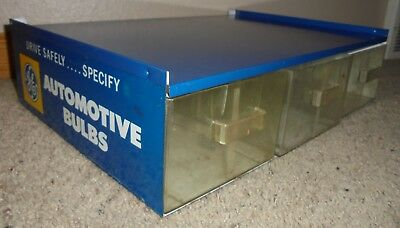Vintage GE General Electric Automotive Bulbs Store Counter Display Case Auto