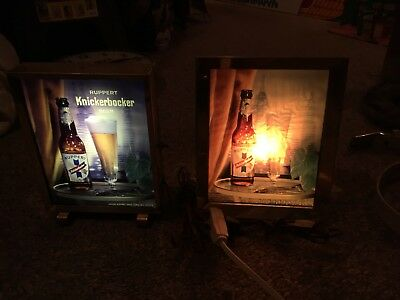 2 Vintage Knickerbocker Beer Light Up Signs