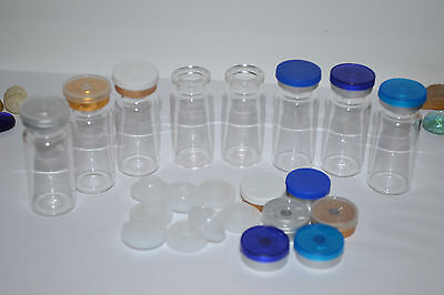 50 sets 10ml Clear Glass Vials with Stopper & Flip off Seals,100% New & Empty