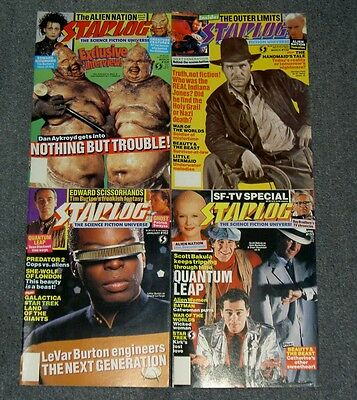 Lot Of Starlog Magazine's,vintage.star Log,wars,trek,sci-Fi,cinema Mag.32307
