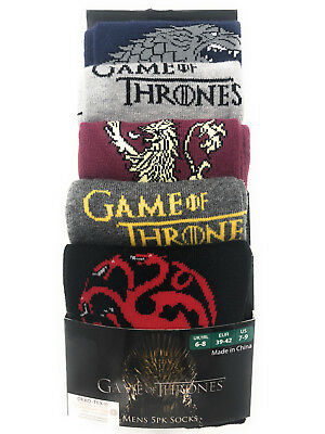 5 Paar Game Of Thrones Herren Socken 43-47 Lannister Stark Targaryen Primark