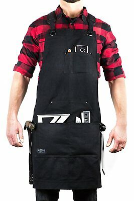 Hudson Durable Goods Deluxe Edition Waxed Canvas Tool Apron Upgraded with Padded