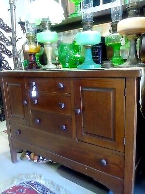 Wooden Buffet with 4 Drawers & 2 Cabinets