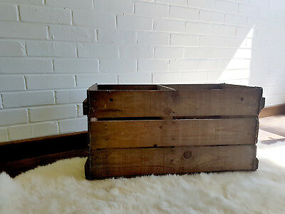 Wooden Crate Wooden Box with parting Vintage Home Decor Storage Retro
