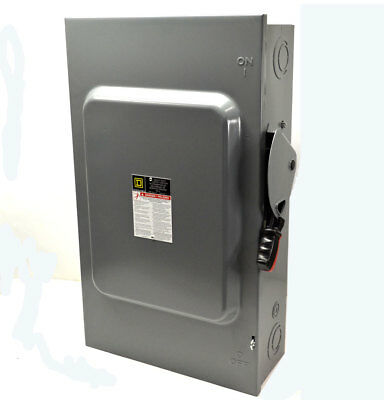 NEW Square D HU364 200-Amp Safety Disconnect Switch Heavy-Duty 600VAC/DC No-Fuse