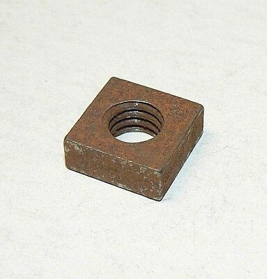 "3/8""-16 Square Machine Screw Nuts - Coarse Thread - Plain Finish -Lot of 50 Pcs."