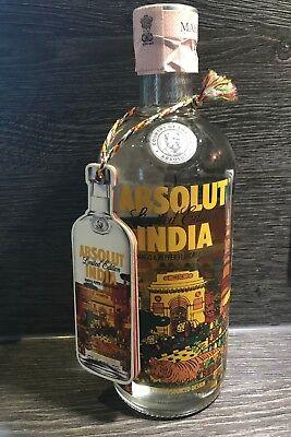 Absolut Vodka India 750 ml with TAG NEW FULL AND SEALED!