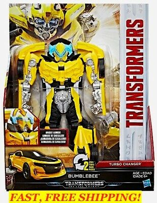 Transformers Mv5 ~ The Last Knight Armor ~ Turbo Changer Bumblebee Action Figure