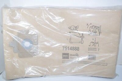 Pack of 10 Taski Diversey Vento 15 Vacuum Bags Model# 7514888