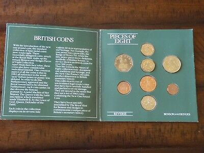 UK uncirculated coin collection 1983 Pieces Of Eight Benson & Hedges