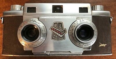 Vintage Reverse Stereo 33 Camera w/Wollensak Synchromatic 35mm - Parts Only