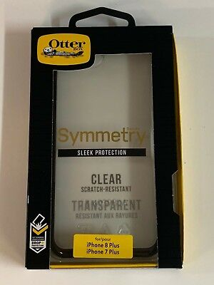 """OtterBox Symmetry Series Case For iPhone 7 Plus & Iphone 8 Plus 5.5"""" Clear/Black"""