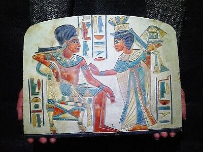 ANCIENT EGYPT EGYPTIAN ANTIQUE Tutankhamun And Wife Stela Relief 1332–1322 BC