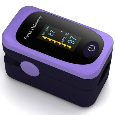 Pulse Oximeter Fingertip Oxygen Saturation Monitor Heart Rate Monitor