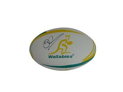 Quade Cooper Signed Australia Wallabies Rugby Ball + Photo Proof *see Him Sign*