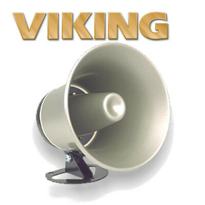 Viking 25AE Paging Horn Indoor Outdoor Speaker Weather Resistant 8 Ohm