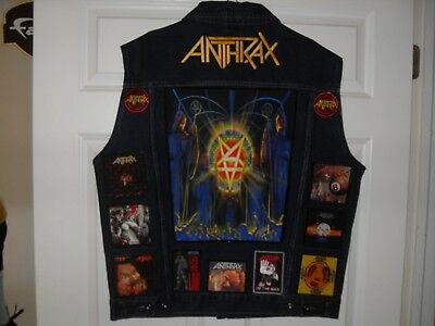Anthrax Tribute VEST-Blue(XL)..........********* UPDATED ***********************