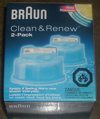New Braun Clean & Renew 2-Pack CCR2 Shaver Cleaners