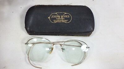 e01279ea02e Antique Eye Glasses Semi Rimless 1 10 12k Gold Filled Vintage Shuron Frames