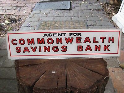 Vintage Original Commonwealth Savings Bank Counter Stand (1960s /Or Before) RARE