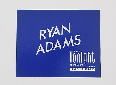 Ryan Adams Dressing Room Door Card from The Jay Leno Show