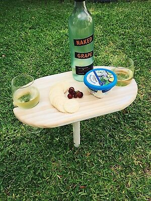 Outdoor Mini Picnic Table Wine Holder Cheese Grazing Platter
