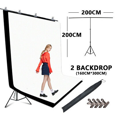 Photography Chromakey Screen Black and White Backdrop Photography stand PRO Kit