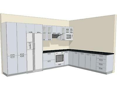 Complete White 2Pac Kitchen With Stone Tops-Brisbane